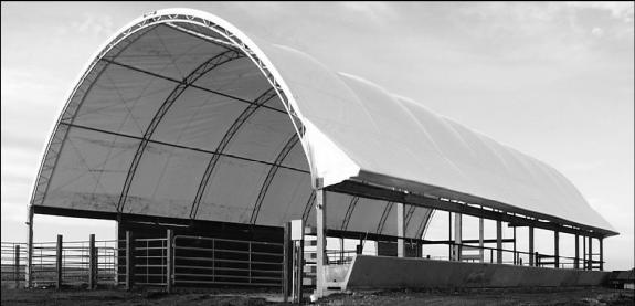 One Of The Least Expensive Structures For Housing Cattle Is Hoop Barn Barns Are Similar To Greenhouses Disadvantage Heat And