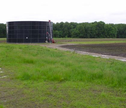 Figure 1. Slurry manure storage tanks store manure that is between 5 and 10 percent dry matter.