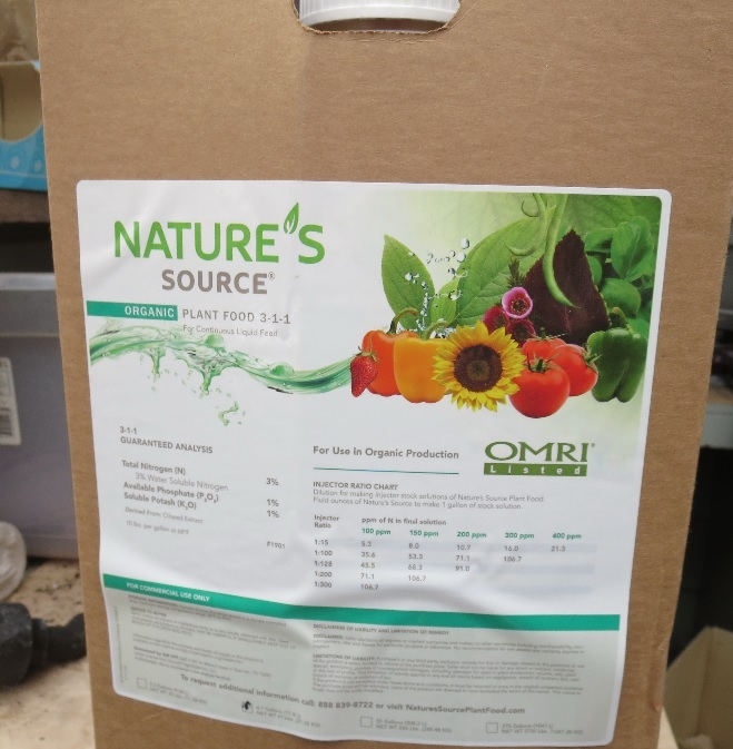 Greenhouse & Floriculture: Organic Fertilizers - Thoughts on Using