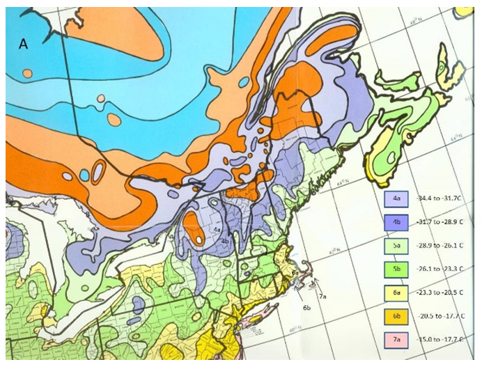 Plant Cold Hardiness Zone Map For Northeastern North America Adapted From
