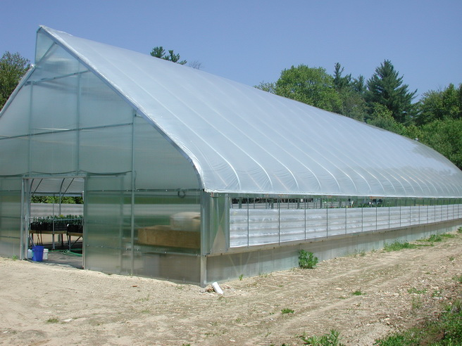 Free-standing greenhouse with roof vent