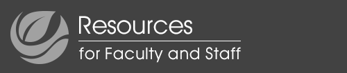 Faculty and Staff Resources mobile logo