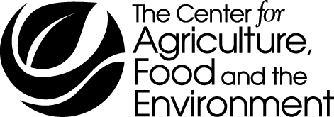 Center for Agriculture, Food and the Environment black logo - no line