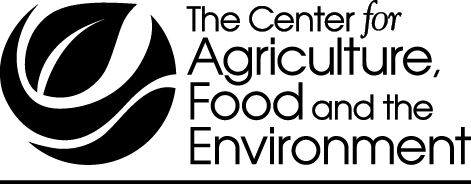 Center for Agriculture, Food and the Environment black logo