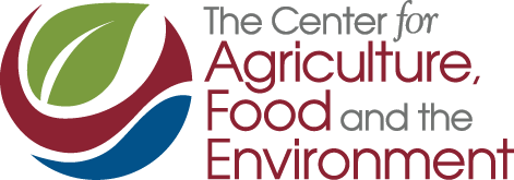 Center for Agriculture, Food and the Environment color logo no line