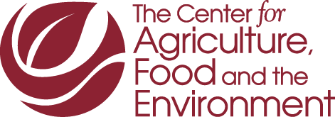 Center for Agriculture, Food and the Environment maroon logo - no line