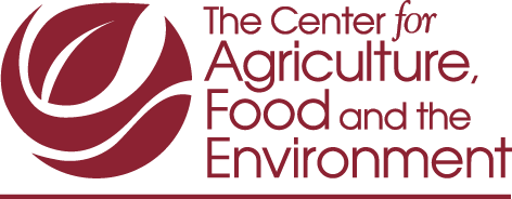 Center for Agriculture, Food and the Environment maroon logo