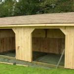 Wooden Run-in Shed