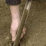 Use a soil probe or soil auger to collect samples.