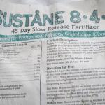 Sustane Organic Fertilizer