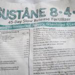 Sustane Organic Fertilizer
