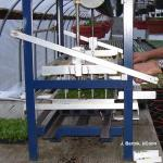 Semi-automatic tranplanter in greenhouse