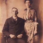 Henry and Gertrude Bigelow, owners of Bigelow home on North Pleasant Street, Amherst, MA