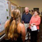 Kathy Peterson, Mass. State Grange, Chair Executive Committee and funder, attends poster session