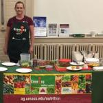 UMass Extension educator, Carole Guerin, offers nutrition information at public events