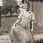 Merle Howes as 11 year old 4-H member on his family farm