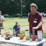 Scott Ebdon educates visitors about turfgrass stress