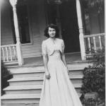 15 year-old Peg Randall in her own hand-sewn gown
