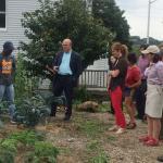 Congressman James McGovern (D-MA), tours new Worcester garden site