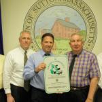 Sutton Selectmen display Green Community sign