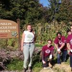 Lilly Israel directs volunteers at Franklin Permaculture Garden