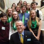 4-H Ambassadors with Governor Baker