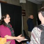 Brita Dempsey, MA Envirothon Coordinator registers attendees