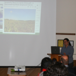 Professor Christine Hatch teaches students about MA floods and drought
