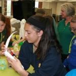 4-H camper examines 3D product