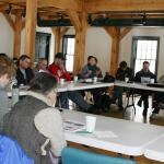 Growers and UMass Fruit and Vegetable Team review evaluations