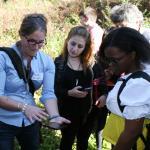 Lena Fletcher, lecturer, UMass Dept of Environment Conservation uses smartphone app