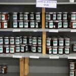 Wide variety of jams and jellies made on the premises