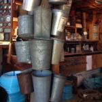 Maple sugar buckets at Davenport Sugar House
