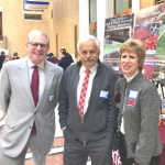 l to r - Agriculture Commissioner John Lebeaux, UMass CARET Representative Ken Nicewicz, CAFE staffer Laura Hall at Ag Day 2019.