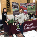 l to r - Melissa Ocana, Extension Climate Adaptation Coordinator and Samantha Glaze-Corcoran, PhD student in Plant Biology, at Ag Day 2019