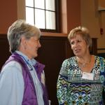 Sonia Schloemann and Laura Hall, long time extension folks
