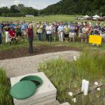 Turf Field Day 2015: Dr. Mickey Spokas talks about the constructed wetland wash station at the Center.