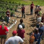 Field research lecture at the South Deerfield farm