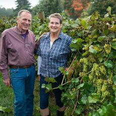 Joyce and Phil Wiley at UMass Cold Spring Orchards