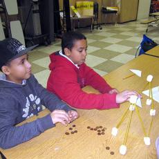 4-H boys with engineering project
