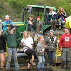 Student Farming Enterprise with transplanter