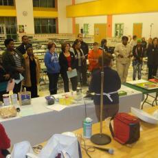 Brockton-Parents attend cooking workshop