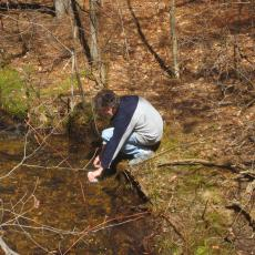 Water sample from Cadwell Creek in the Quabbin Woods