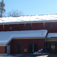 Warwick School before remediation of ice dams