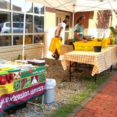 Brockton Mobile Market set up outside health center