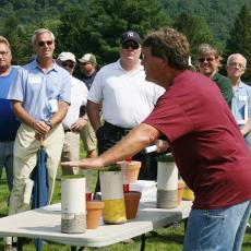 Scott Ebdon offers workshop at Joseph Troll Turf Research Facility
