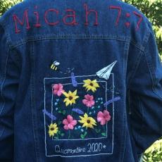 embroidered jacket entered for 4-H virtual fair