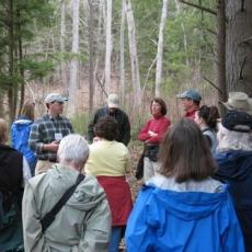 Keystone Cooperators discuss wildlife management deep in the Massachusetts woods