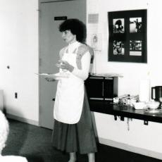 Gretchen May teaches the community about the wonders of the microwave
