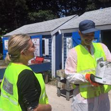 Hazardous waste collection on Cape Cod wtih AmeriCorps Cape Cod Bennett Payne . Photo credit Rebecca Westgate